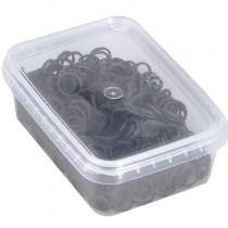 Sibel Mini Elastic Bands Black Box of 500
