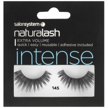 Salon System Naturalash Strip Lashes 145 Intense Black