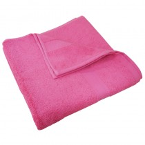Luxury Egyptian Bright Pink Bath Towel 70 x 130cm