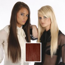 Universal 18in Red Brown 333 Clip in Human Hair Extensions 105g