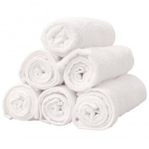 Classic Hair Towel White x12