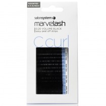 Marvelash C Curl Lashes 0.20 Volume Assorted Lengths Black x 2960 by Salon System