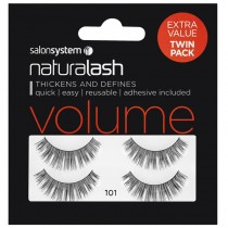 Salon System Naturalash Twin Pack Strip Eyelashes 101 Black