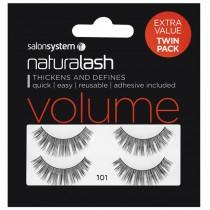 Salon System Naturalash Twin Pack Strip Eyelashes 101 Black