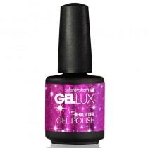 Gellux Magenta Sparkles 15ml Glitter Gel Polish