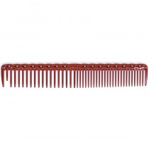 YS Park YS 338 Quick Cutting Round Tooth Grip Comb Red