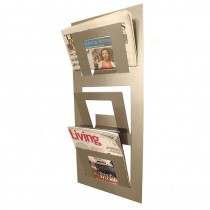 Three Tier Wall Mounted Magazine Rack