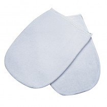Deo 100% Cotton Manicure Mitts White 1 Pair
