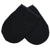 Deo 100% Cotton Manicure Mitts Black 1 Pair