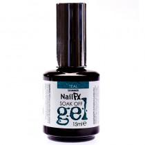 NailFX Teal Soak Off Coloured Gel Polish 15ml