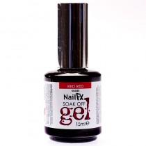NailFX Red Red Soak Off Coloured Gel Polish 15ml