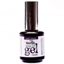 NailFX Deep Grape Soak Off Coloured Gel Polish 15ml