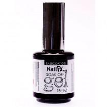 NailFX Base Coat Gel Soak Off Coloured Gel Polish 15ml