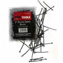"Hair Tools 2"" Triple Wave Grips Black (Box of 500)"