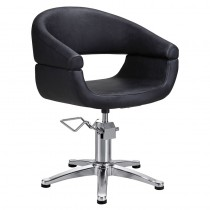 Lotus Chicago Black Styling Chair with 5 Star Base