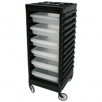 Easy Colour Trolley Black & Transparent