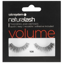 Salon System Naturalash 108 Black Natural Volume+ Strip Lashes