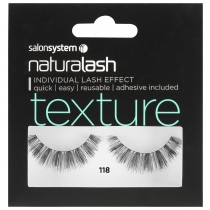 Salon System Naturalash 118 Black Texture Strip Lashes