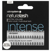 Salon System Individual Flare Lashes Black Short Extra Volume