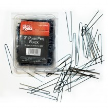 "Hair Tools Plain Pins 3"" x 500"