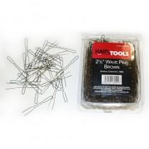 "Hair Tools 2.5"" Wave Pins Brown x 1000"