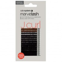 Marvelash J Curl Lashes 0.10 Fine Assorted Lengths Black/Brown x 2960 by Salon System