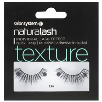 Salon System Naturalash 134 Black Texture Strip Lashes