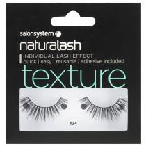 Salon System Naturalash 134 Black Texture Strip Lashes