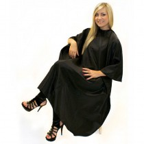 Hair Tools Unisex Gown with Poppers Black
