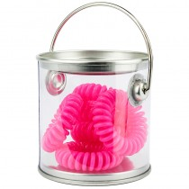 Bucket Of Bobbles x 6 Hot Pink