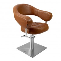 Lotus Corby Styling Chair Brown Square Base