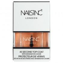 Nails Inc 45 Second Top Coat With Kensington Caviar Nail Polish 14ml