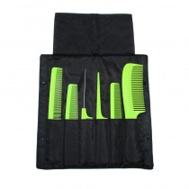 Denman Precision Comb Wallet Filled Green Combs