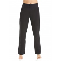 Straight Leg Trousers Black