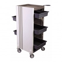 Lotus Linea 5 Drawer Trolley Grey