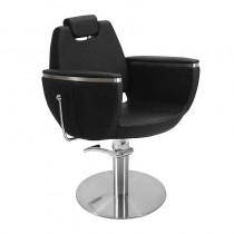 Lotus Hamilton Extra Black Styling Chair With Round Base