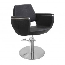 Lotus Hamilton Black Styling Chair With Round Base
