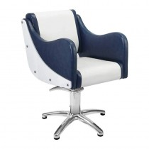 Lotus Senna Blue/White Styling Chair