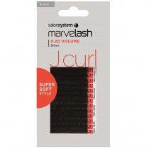 Marvelash J Curl Lashes 0.20 Volume 9mm Black x 2960 by Salon System