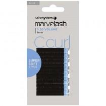 Marvelash C Curl Lashes 0.20 Volume 9mm Black x 2960 by Salon System