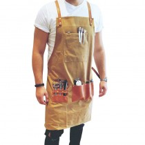 BARBER PRO Waxed Canvas Barber Apron Sand