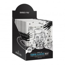BARBER PRO Foaming Cleansing Mask Retail Display Case 11+1