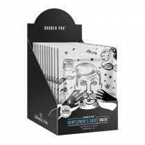 BARBER PRO Gentlemen's Sheet Mask Retail Display Case Box of 12