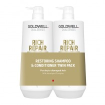 Goldwell Dualsenses Rich Repair 1L Twin Pack Shampoo and Conditioner