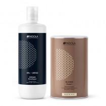 Indola Blonde Expert Bleach 450g + Indola Cream Developer 6% Litre Deal
