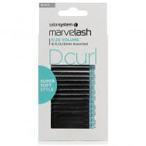 Marvelash D Curl Lashes 0.20 Volume Assorted Lengths Black x 2960 by Salon System