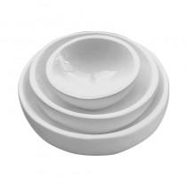 Set of 3 Resin Bowls White