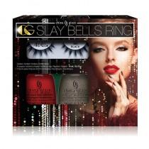 China Glaze Slay Bells Ring - Nail design/ Lash Kit