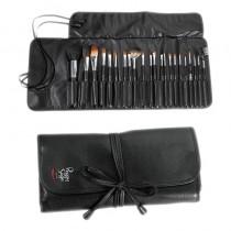 Peggy Sage Set Of 22 Make Up Brushes In Belt