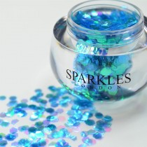 Sparkles London Alicia Big & Chunky Turquoise Face Glitter